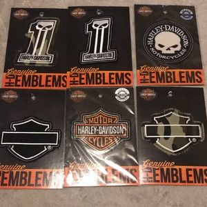 Six pack Harley Davidson patches all different